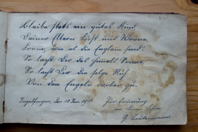 Poesiealbum 18.01.1916 2