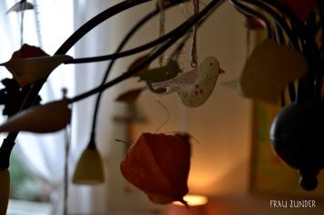 Vogelanhänger in Lampe, Dekoration, Herbst, Bad Mergentheim